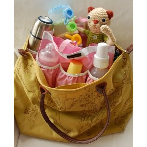 The organiser lets you create your own baby bag