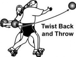 Side throw against wall or to partner
