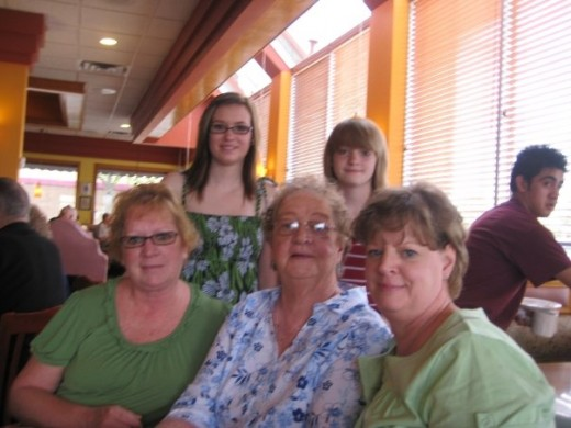 Gram and two of her daughters and two of her granddaughters