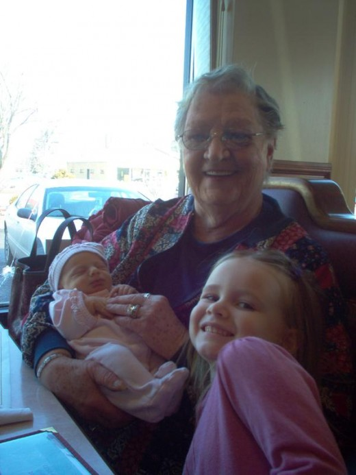 Gram and two of her great-grand daughters
