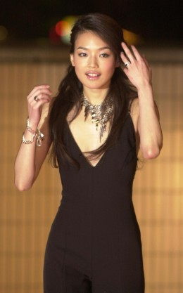 Shu Qi looking hot in black dress