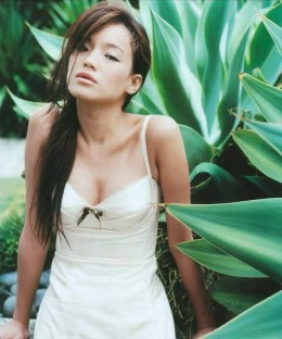 Shu Qi in a nature photo shoot