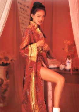 Shu Qi in a traditional Chinese outfit
