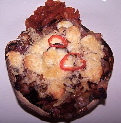 Mozzarella and Bacon Stuffed Mushrooms: An Easy Starter, Snack or Supper Recipe