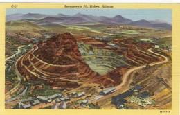 Open Pit Copper Mine Bisbee Arizona circa 1945