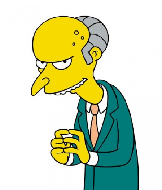 "Mr. Burns From ""The Simpsons"""