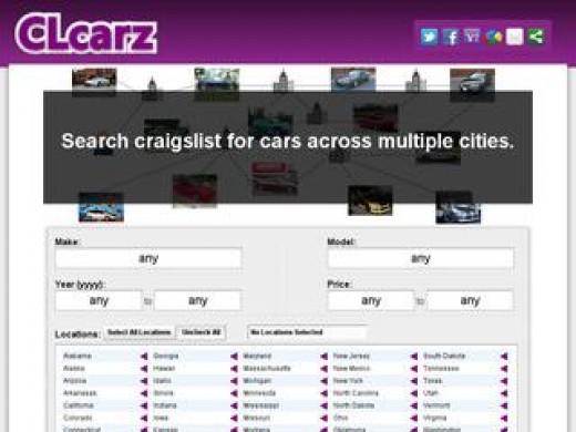 Screenshot of CLcarz.com