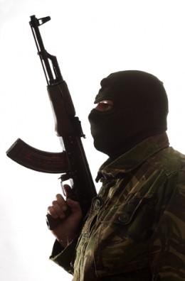 Terrorist with AK47