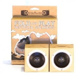 OrigAudio Fold and Play Recycled Speakers - Cardboard Speakers that Work on any Device with 3.5mm Audio Jack