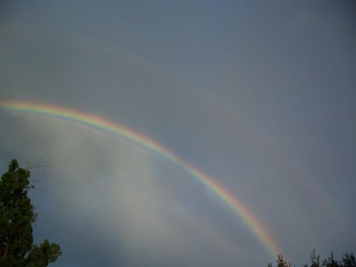 a double rainbow in Orlando, FL