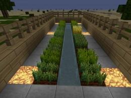 The glowstone powered wheat farm.