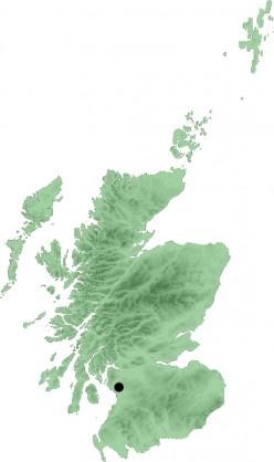 Map location of Kilwinning, Scotland