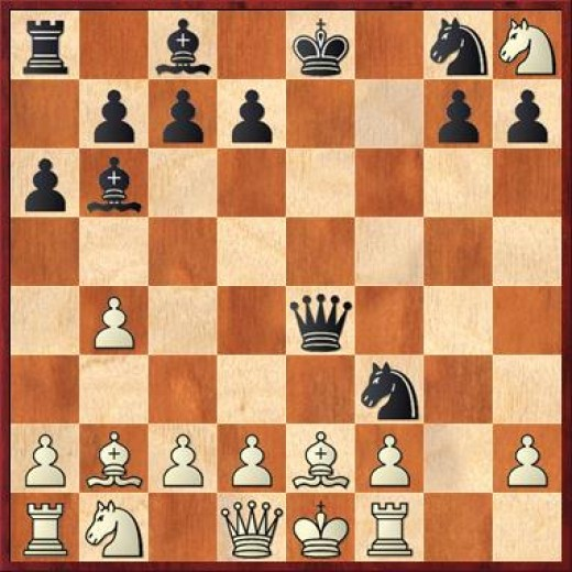 Black smother mates his opponent in the opening.