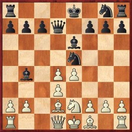 Black to play: Unusual smothered mate in the opening