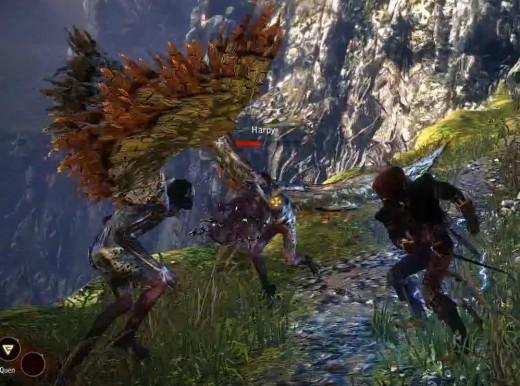 Witcher 2 Combat with Harpies