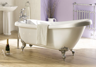 Slipper Roll Top Bath