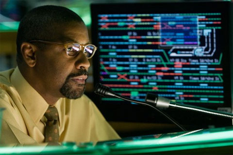 Denzel Washington plays Walter Garber a New York Transit Authority official, who is demoted to dispatcher due to being accused of taking bribes.