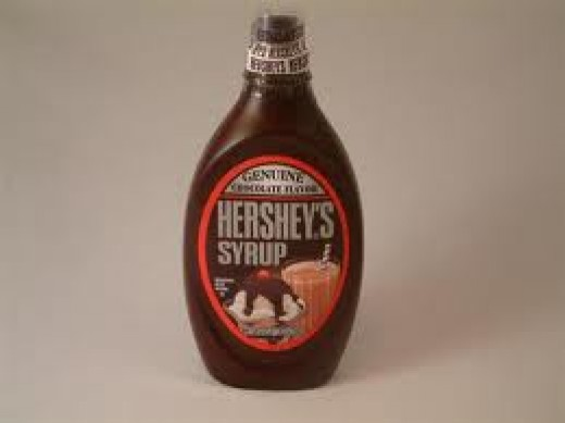 Chocolate syrup is so good with homemade vanilla ice cream.
