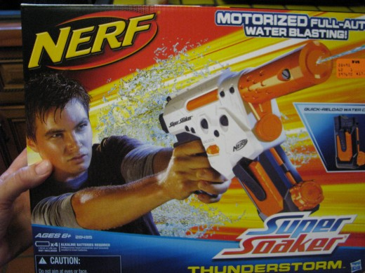 Nerf Super Soaker. Brendan's pick for best watergun