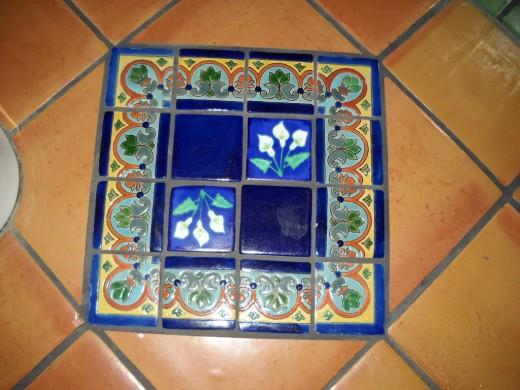 blue talavera tile diamond