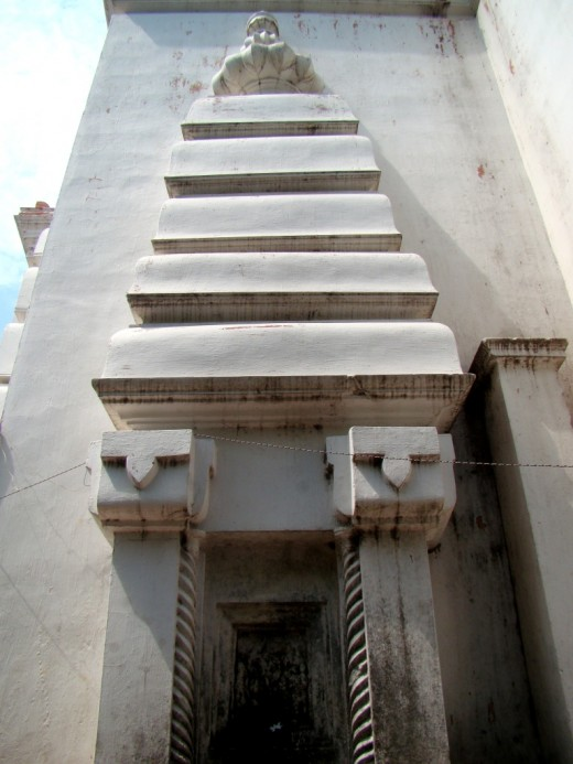 Ratha or angular projection on the main temple