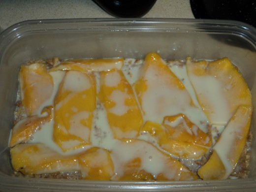 Mango Float with Cream Mixture