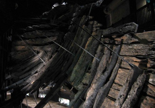 The skeletal ribs of the Batavia's hull