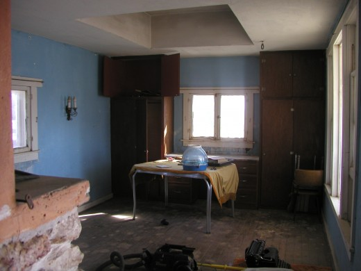 Cabin main room before