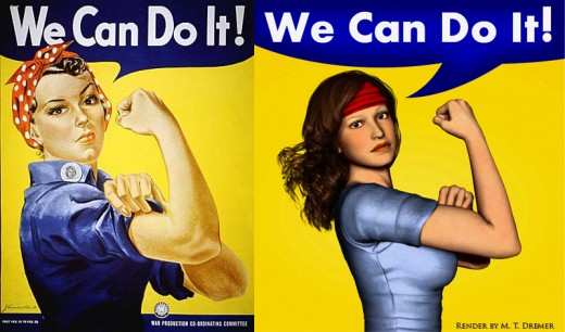 My tribute to Rosie the Riveter.