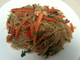 Pancit Vegetables and Seafood 2