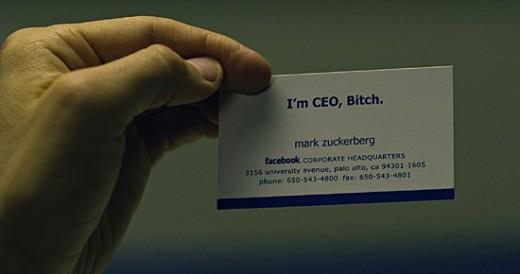 Mark Zuckerberg Name Card