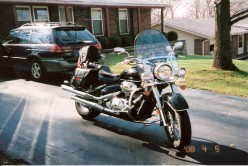 My current ride.  Suzuki Boulevard C50 with all the bells and whistles.  A fuel injected ride!