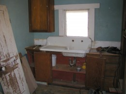 """New"" antique cast iron sink installed"
