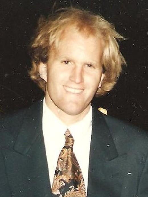 Youthful promise. Arthur Freeman in 1996. Image from the Herald Sun