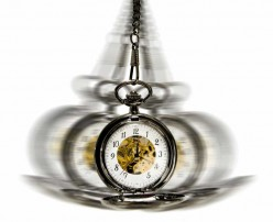 Most people imagine hypnotist using a tool, like the one here, swinging in front of their face, to put them in a hypnotic trance. It is used to help you focus. Some have even used a light or a flickering candle.