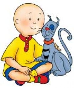 "Why is Caillou from the children's ""Caillou"" cartoon bald?"