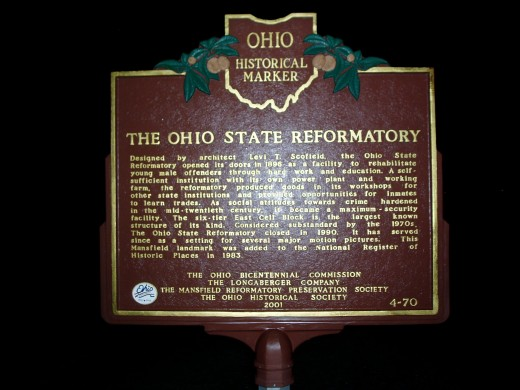 Ohio State Reformatory at Mansfield Historical Marker