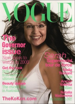 Former Vice Presidential nominee, Sarah Palin on the Cover Of Vogue Magazine