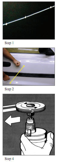Steps to remove molding and old tape