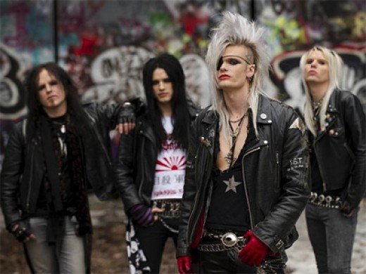 Crashdiet: (L-R): Eric Young, Martin Sweet, Simon Cruz, Peter London