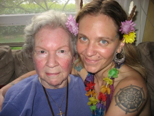 This photo is her Grandmother at Eden's 32nd birthday 2 years ago - she is now on the other side -  Eden loves this photo as you can see her Grandmother's eyes so clearly...