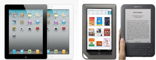Ipad 2, Nook Color, and Kindle