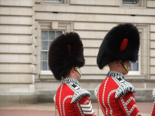 Guards at Buckingham Palace
