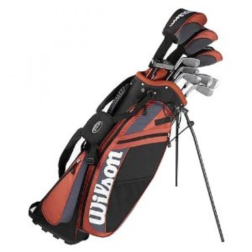 Wilson have a set of golf clubs at under $200, great for beginners.