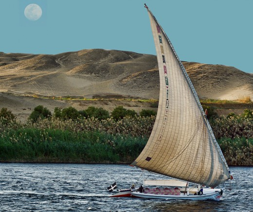 Cruising the Nile on a Moonbeam