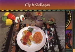 Chili Rellenos with Frijoles, Yummy!