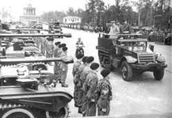 Allied victory parade in Berlin 1945