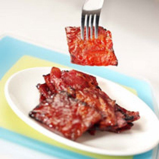 The traditional sliced pork bakkwa (barbecued pork). Picture: Bee Cheng Hiang