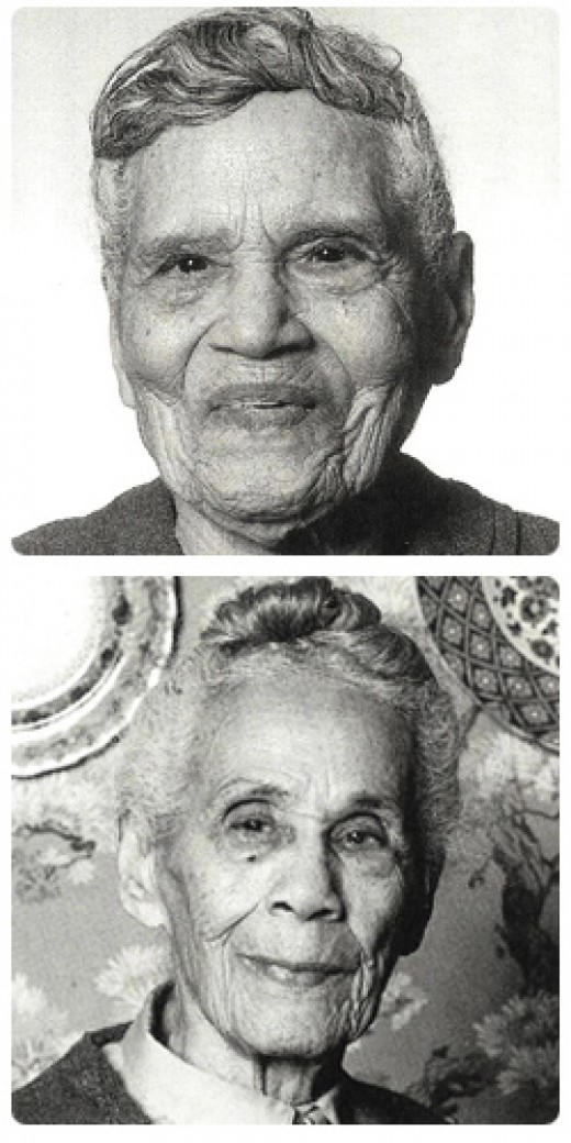 When Sadie's (top) sister Bessie (bottom) died, she wrote a book: On My Own at 107: Reflections on a Life Without Bessie