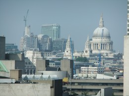 View of St Paul's Cathedral, taken from the London Eye